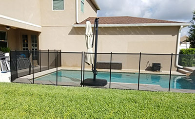 pool safety fence installation